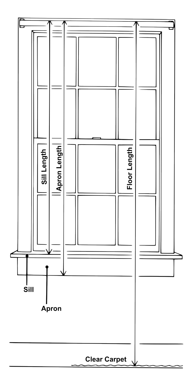 Standard length of window curtains realtagfo pinterest