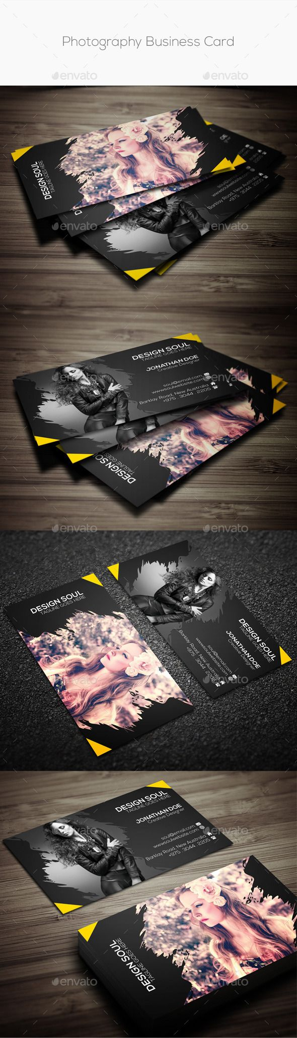 Photography business card photography business cards photography photography business card by adobe photoshop fully layered psd files easy customizable and editable easy to use your own photossmart object option reheart Image collections