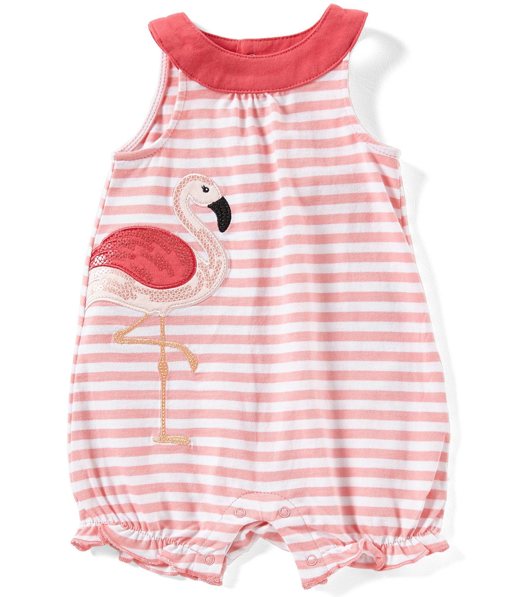 43d021c41bd7 Shop for Starting Out Baby Girls Newborn-9 Months Flamingo Applique Romper  at Dillards.