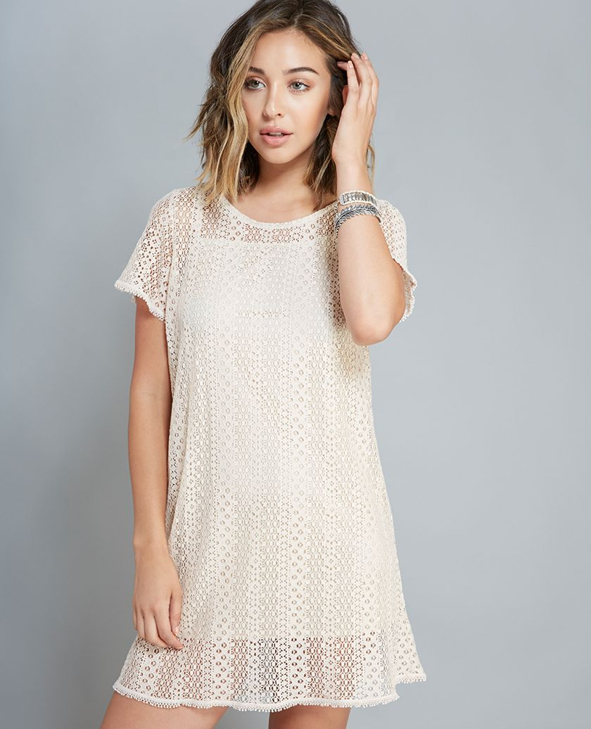 Sheer Crochet Shift Dress Sheer Crochet Shift Dress | Shift ...