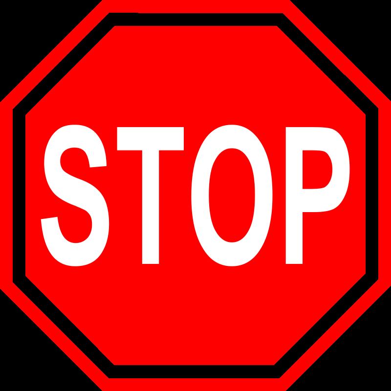 stop sign Stop sign, Clip art, Clip art microsoft