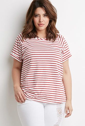 Striped Pocket Tee | Forever 21 PLUS | #f21plus