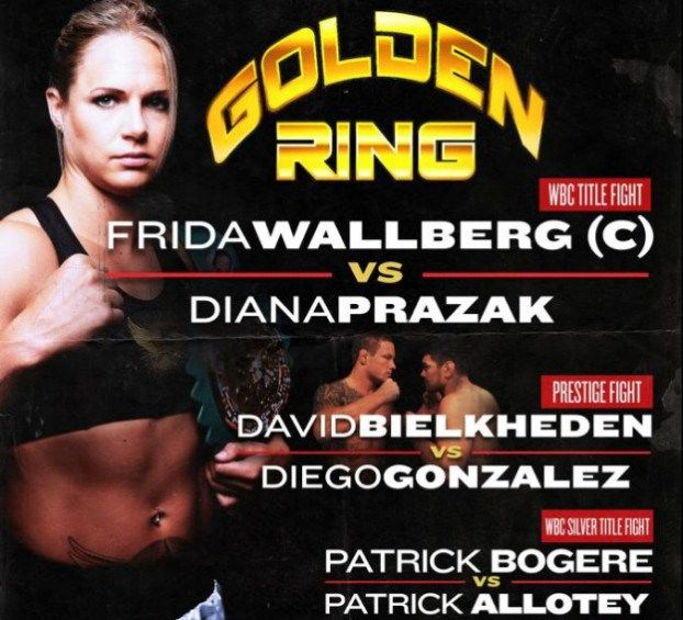 14 June 2013 Water Front Congress SAS Radisson, Stockholm, Sweden commission: Swedish Pro Boxing Commission matchmaker: Wally Munteanu 10x2 rounds super featherweight Frida Wallberg 11(2)-0-0 vs Di...