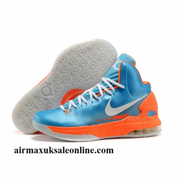Buy Discount Nike Zoom KD 5 V Blue Orange White Basketball Shoes Fashion  Shoes Shop