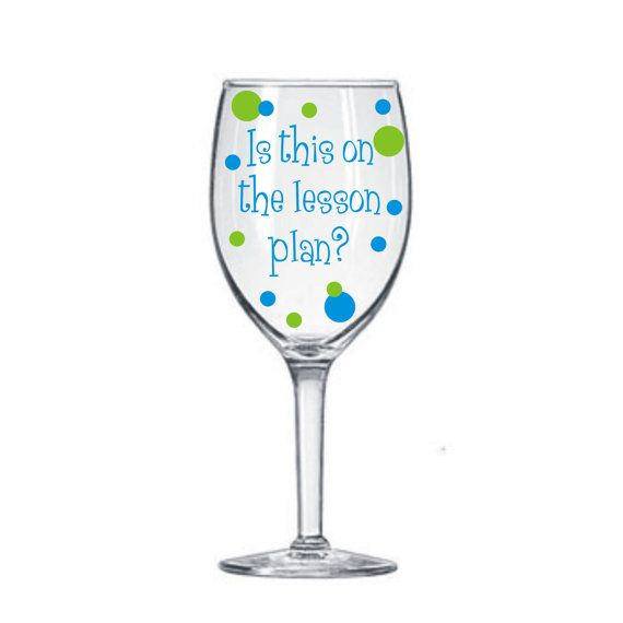 Teacher Decals For Wine Glasses DIY Kit Teacher School GNO - Vinyl decals for drinking glasses