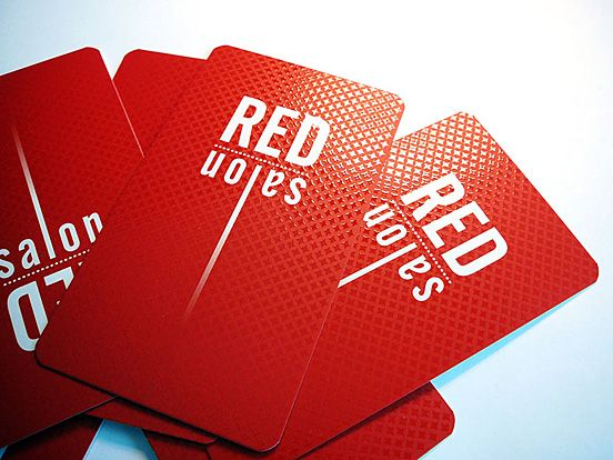 Red salon business cards graphic design pinterest business red salon business cards reheart Image collections