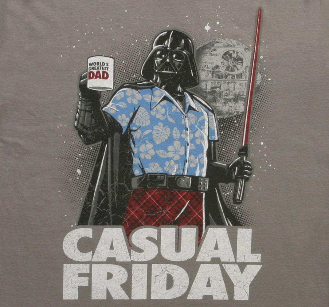 Star Wars Casual Friday T-Shirt. Darth Vader meets Office Space...haha 0d3a9bb8b