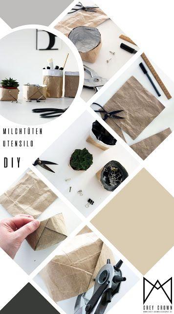 DIY Milchtüten Utensilo - kreativ-welt.de