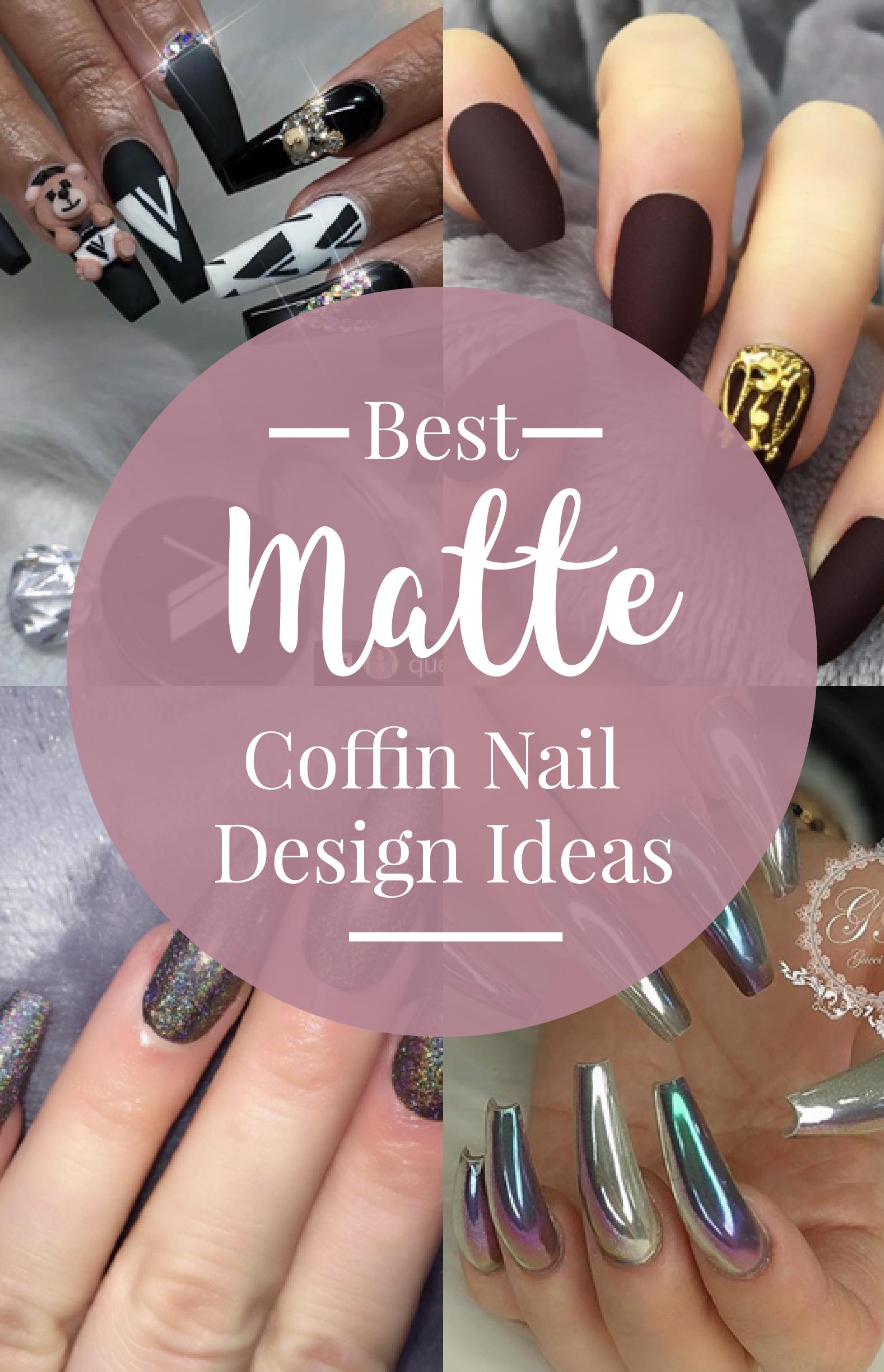 best coffin nail design ideas