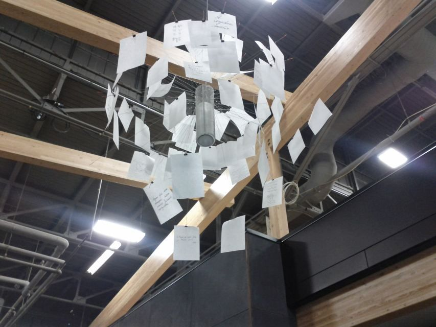 Gorgeous paper note chandelier