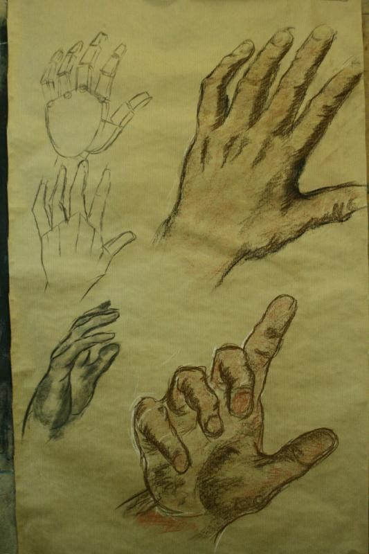https://flic.kr/p/9gUA9w | www.academiataure.com |  #art #artschool #drawing #painting #portrait #retrato #hand #mano