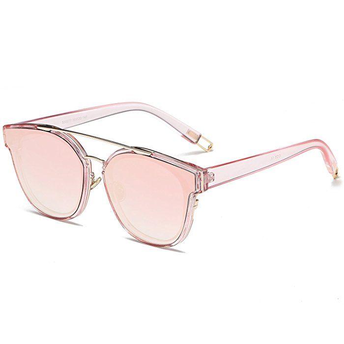 Metall-Art und Weise Retro- Sonnenbrillefrauen-Sonnenbrille , Goldrahmen Doppeltee