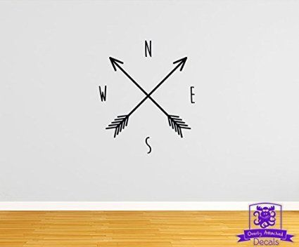 North South East West Arrows 16 Wall Decal Black Knick Knacks