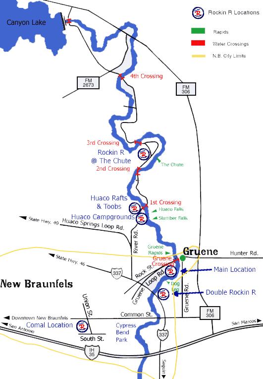 Rockin R River Rides Guadalupe River Texas Texas River