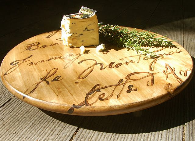 a french cheese board from an ikea lazy susan