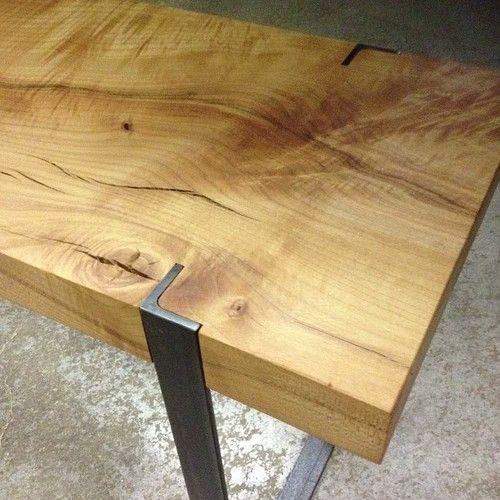 Mesa ngulo hierro mesa pinterest hierro madera y - Angulos de hierro ...