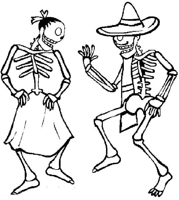 Mexican Fiesta, : Two Skull Doing Zapateado Mexican Dance at Mexican ...