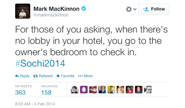 Journalists Are Live-Tweeting Their Shockingly Gross Sochi Hotel Experiences