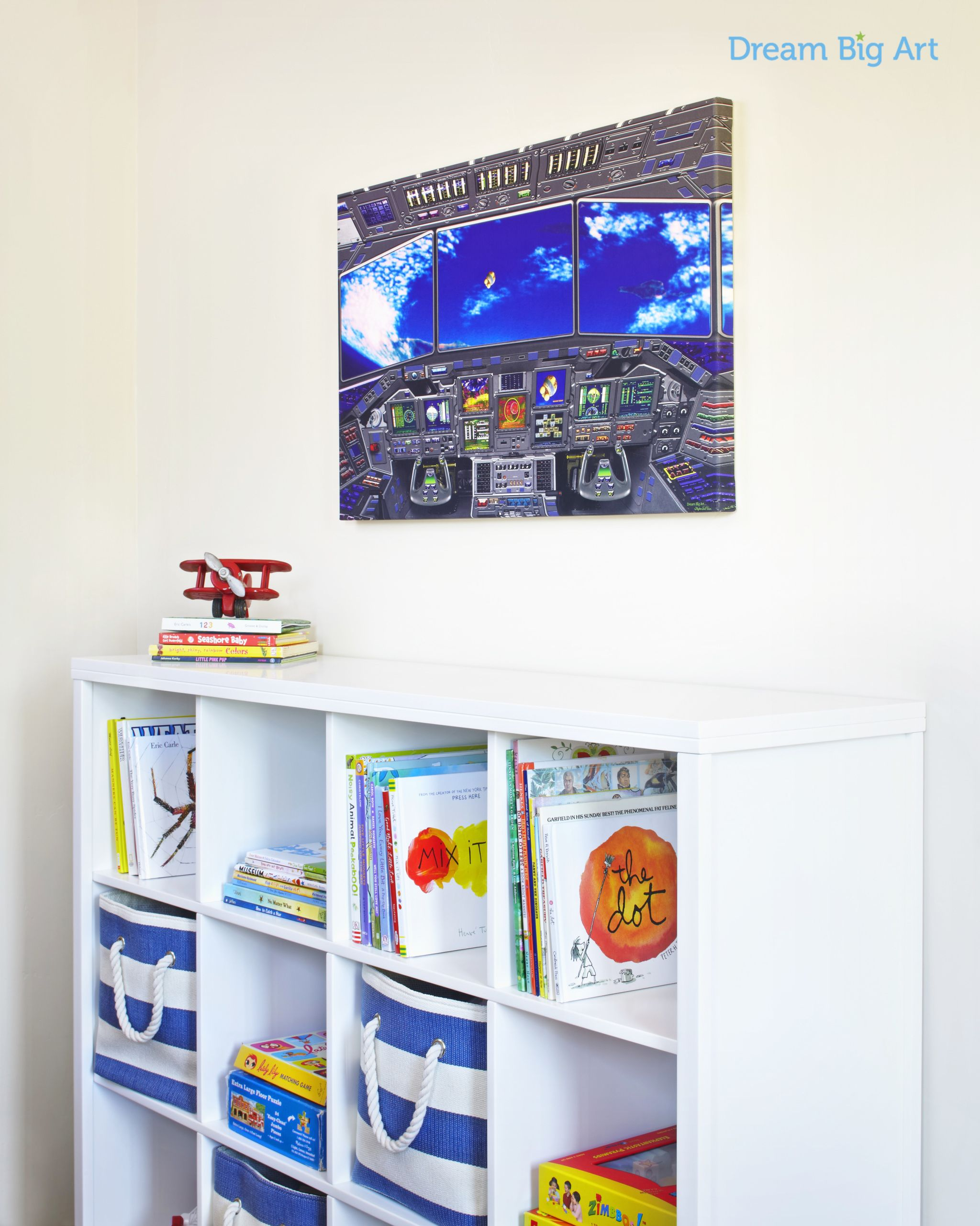 Space wall art for kids