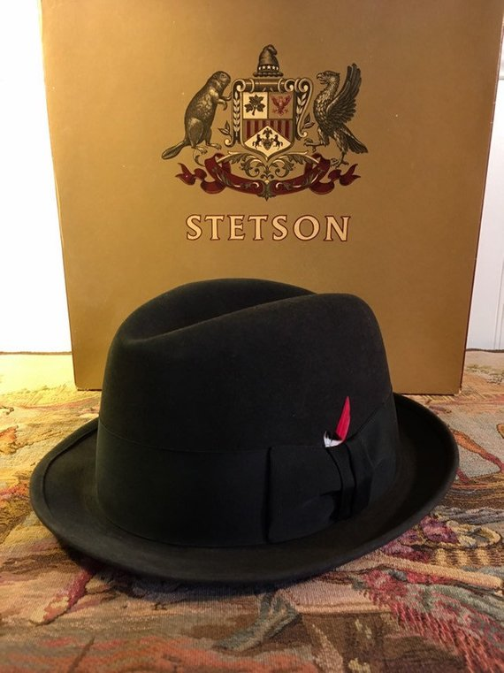 ab8c547470 Stetson Fedora Hat - Guy League 7 1/8 - Wool Felt Royal Stetson ...