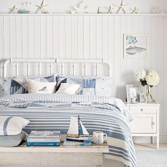 Wohnideen Country küsten schlafzimmer mit bett metall wohnideen magazin boys