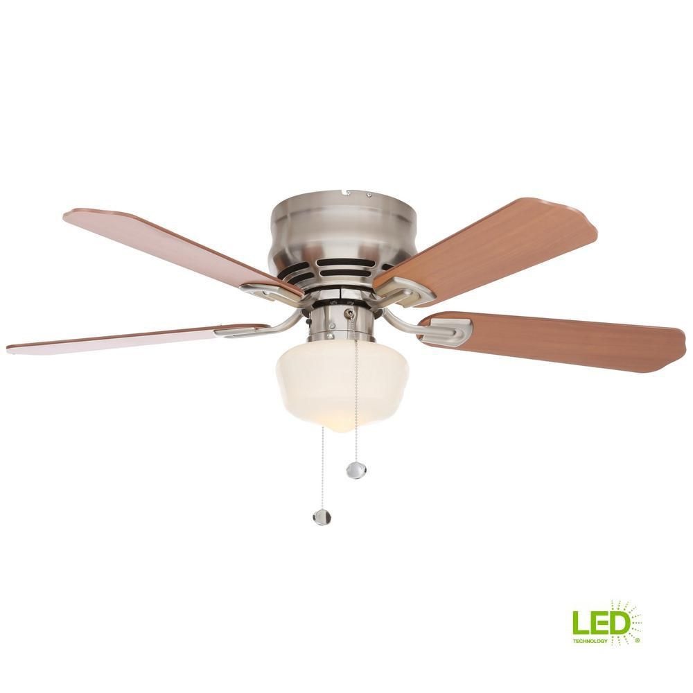 Middleton 42 In Led Indoor Brushed Nickel Ceiling Fan With Light