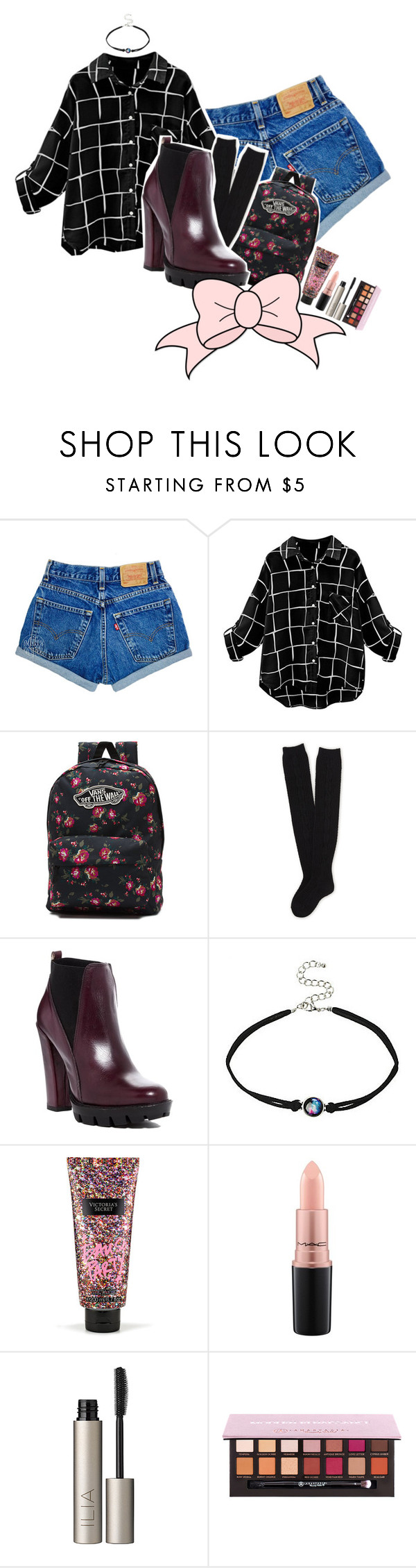 """Freedom is a State of Mind"" by peperutka-eva ❤ liked on Polyvore featuring Vans, Aéropostale, Charles David, Victoria's Secret, MAC Cosmetics and Ilia"