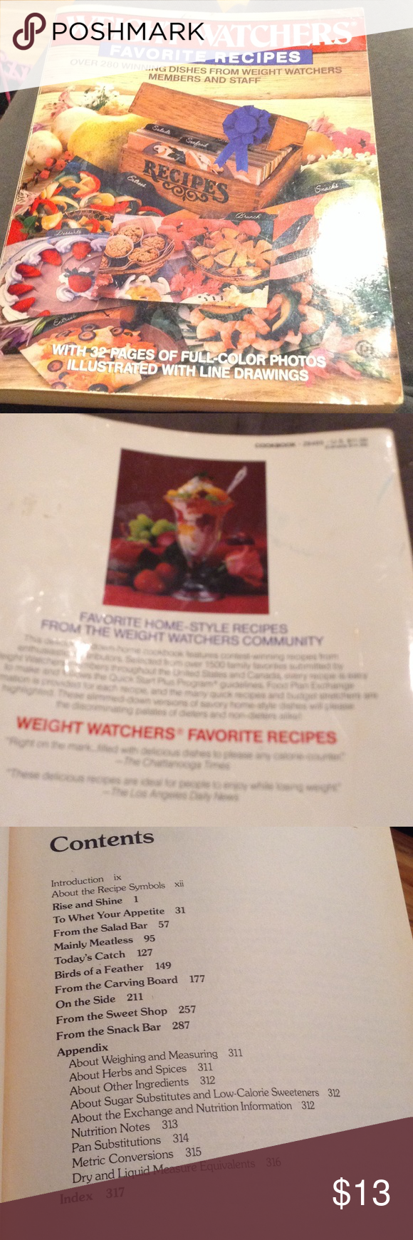 Weight Watchers favorite Recipes Weight Watchers Favorite Recipes over 280 winning dishes from weight watchers members and staff with 32 pages of full color photos weight watchers Other