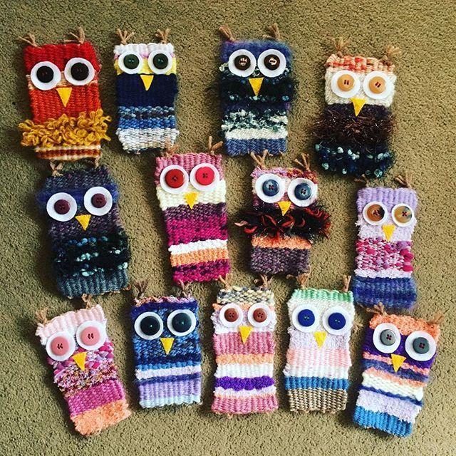 """Photo of Sarah Delahoy Art on Instagram: """"Love these little owl weavi…"""