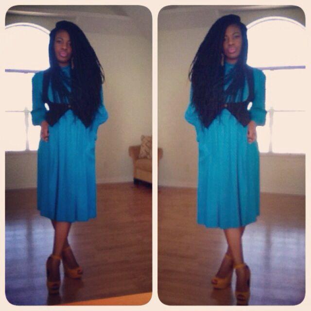 99 Cents Vintage Dress Stylehasnopricetag Budget Fashion Dresses