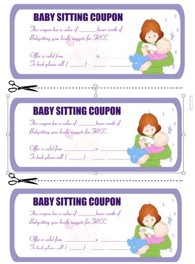 Babysitting Coupon Book Template 8 Babysitting coupon book - free printable vouchers templates
