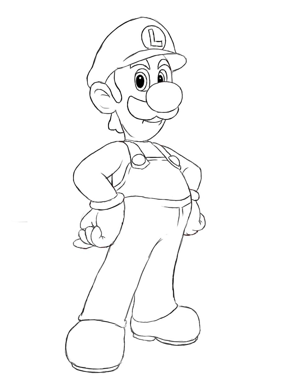 How To Draw Luigi Shit Is Gettin Sketched Drawings