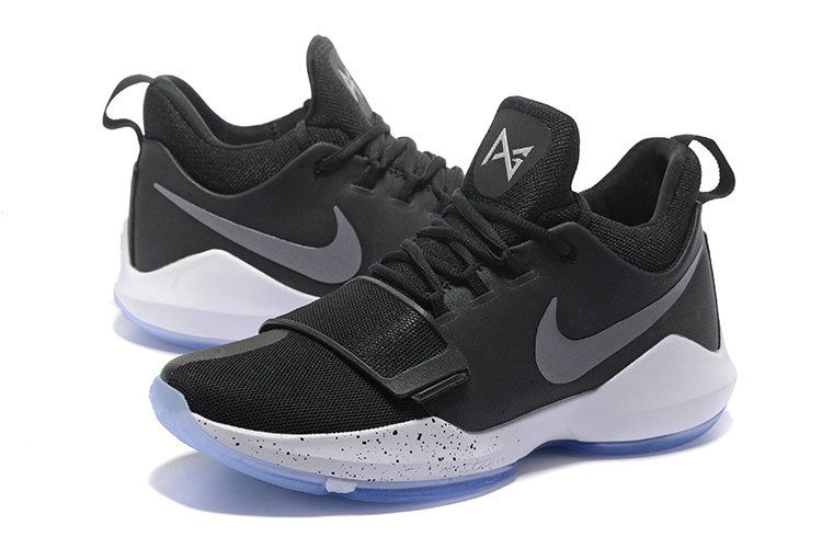 94442a8b645c Sale Cheap Nike PG 1 Paul George Shoes 2017 Black Ice Black White Hyper  Turquoise 878627-001