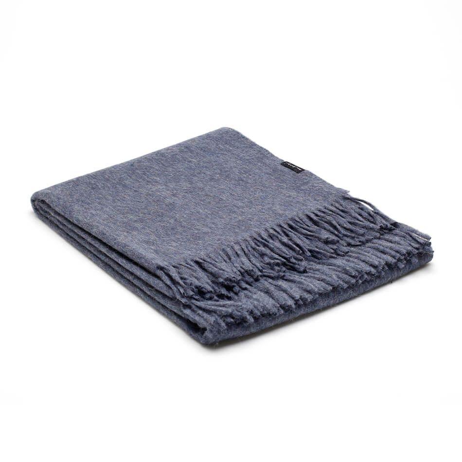 Alpaka Wolldecke Denim Blau Alpaka Decke Wohndecke Wolle Kaufen