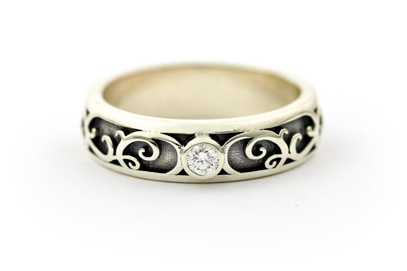 Replace That Horrible Diamond With A White Ivory Agate Stone And Is Perfect Wedding Ring