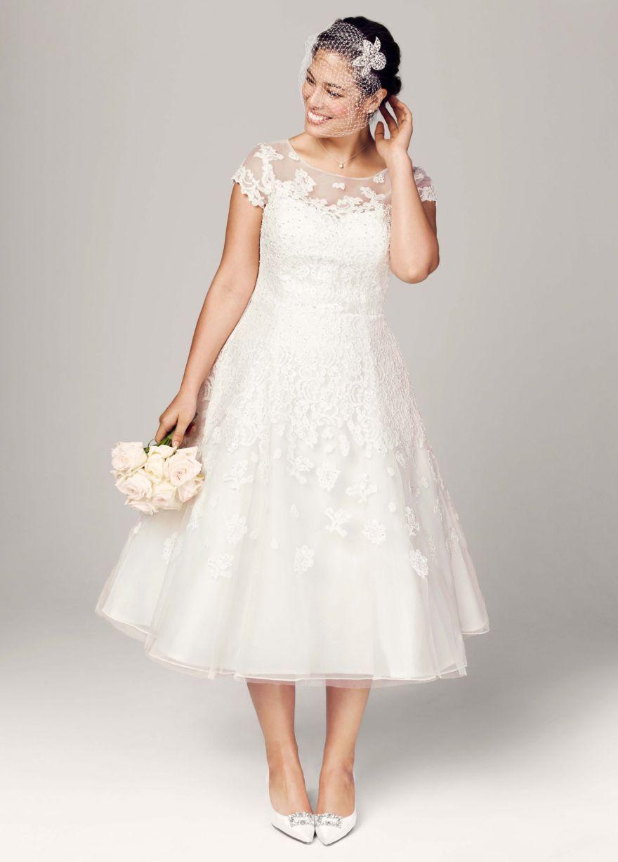 2e86da209e7 Свадебное платье для полных А-силуэта короткое