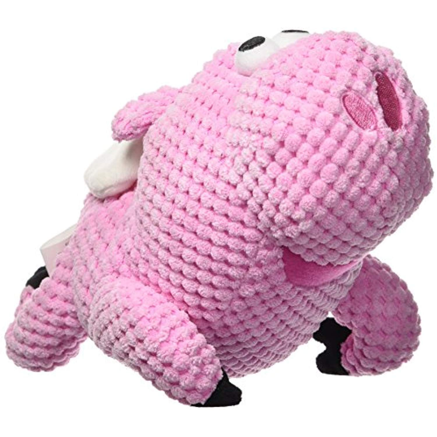 Godog Checkers Flying Pig With Chew Guard Technology Tough Plush
