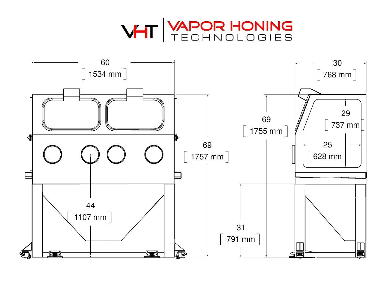Vapor Hone 3500 Vapour Blasting Equipment Vapor Blasting Equipment For Sale Vapor Honing Technologies
