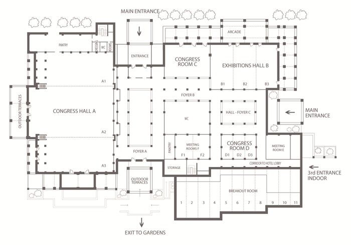 Mandola Rosa Suites Villas Kyllinis Greece The Leading Hotels Of The World Restaurant Plan Convention Center Design Hotel Floor Plan