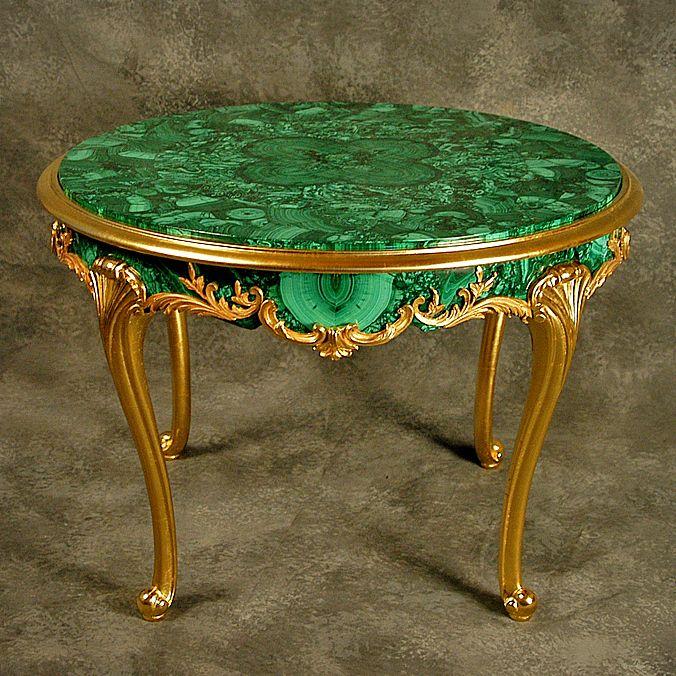 Malachite Table | Russian malachite | Pinterest | Tables ...