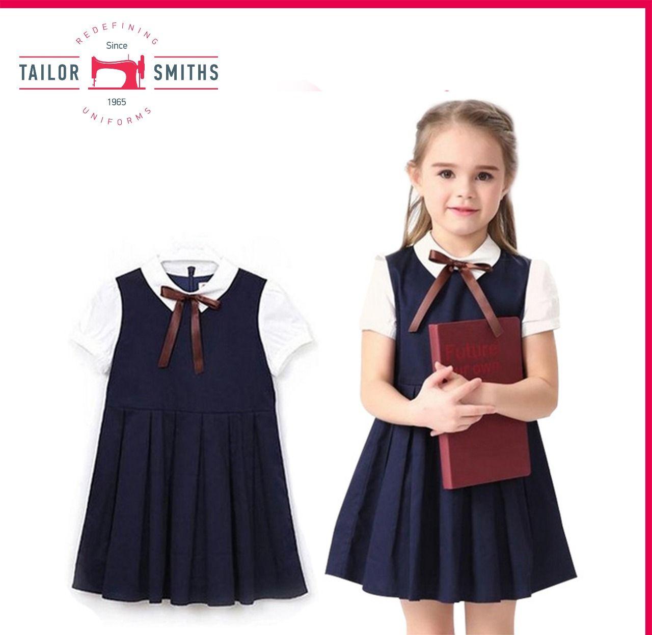 Classroom School Uniforms Girls Pleated Bow Jumper