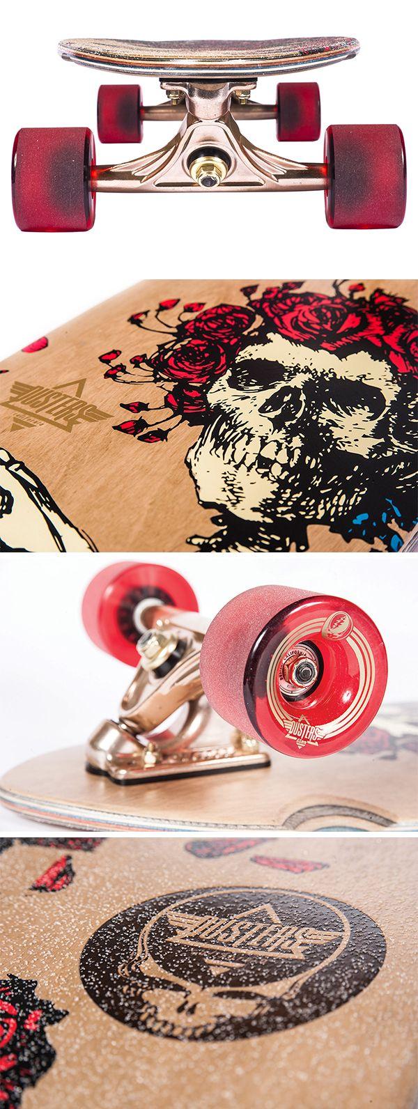 Dusters California x Grateful Dead   Bertha Longboard Skateboard