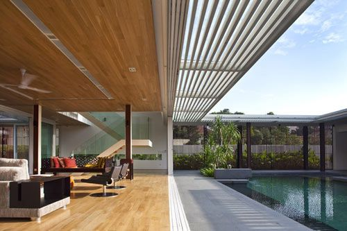 Enclosed Open House In Singapore By Wallflower Architecture