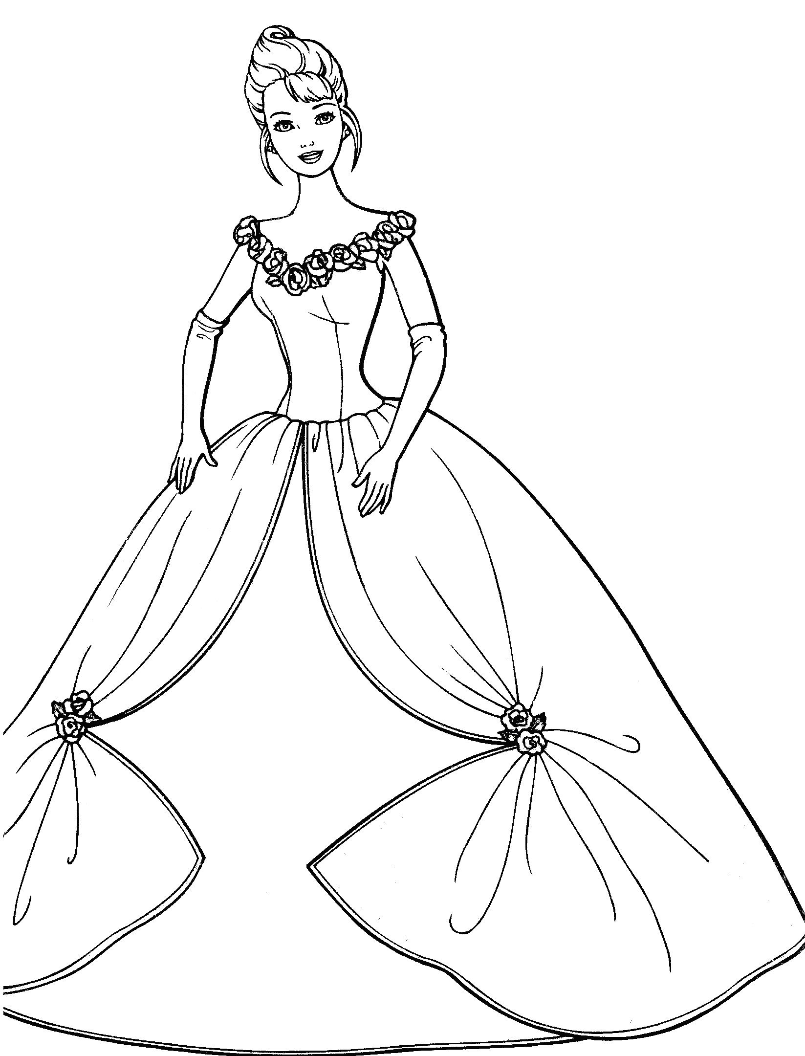 Pin by Tsvetelina on Barbie coloring | Barbie coloring ...