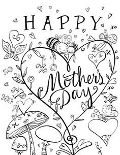 Cute Coloring Page Mother S Day Printable Cards Mothers Day Card