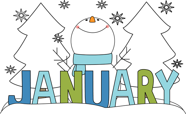 free month clip art month of january snowman clip art image the rh pinterest com january clip art borders january clip art free