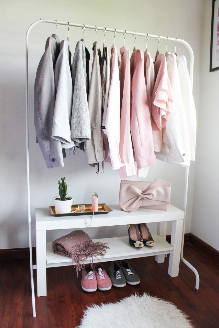 6 Ways To Use The Ikea Lack Tv Bench Like A Boss Closet Ideas For Small Spaces Bedroom Clothing Rack Bedroom Ikea Clothes Rack