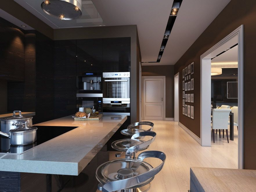 Resultado de imagen para cocinas modernas blancas y meson negro ...