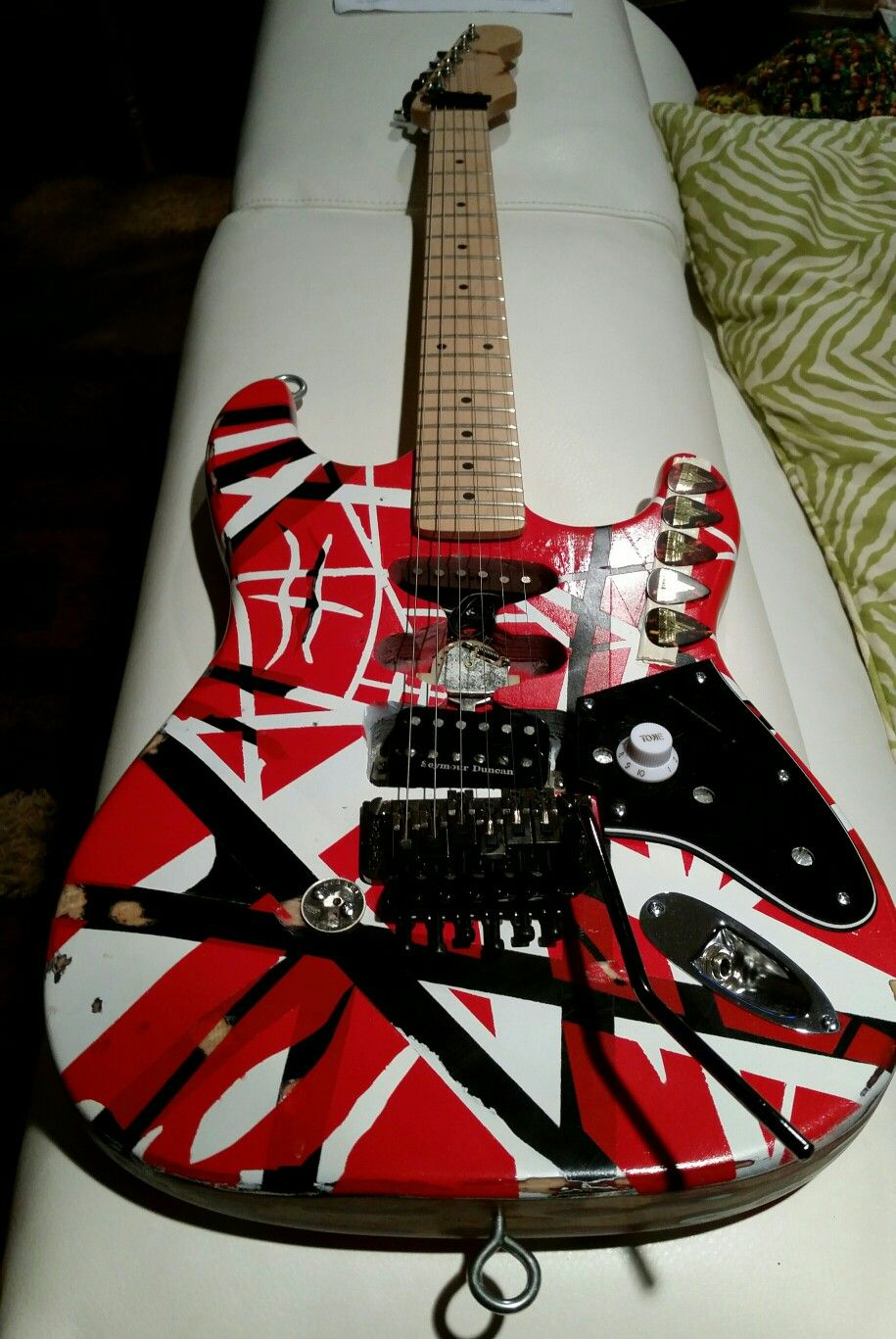My 2nd Homemade Frankenstrat Van Halen Cool Guitar Guitar