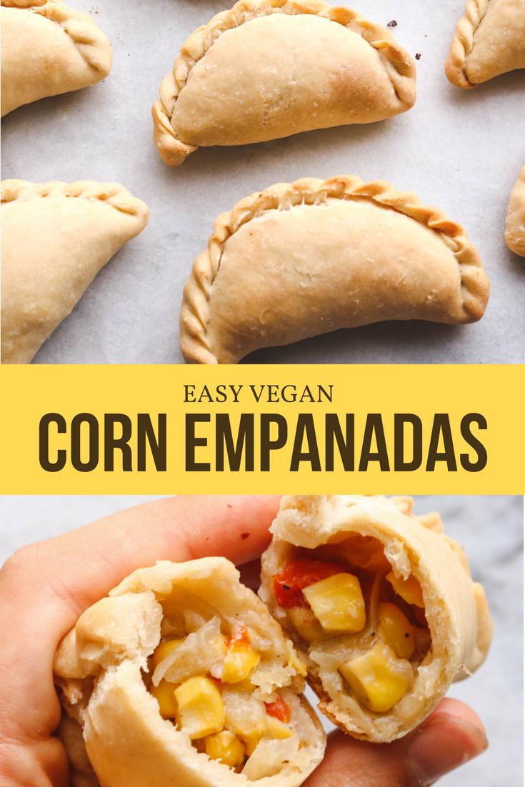 Easy Vegan Corn Empanadas Oil Free